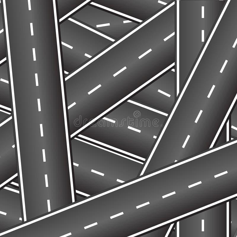 Fond des routes de intersection illustration stock