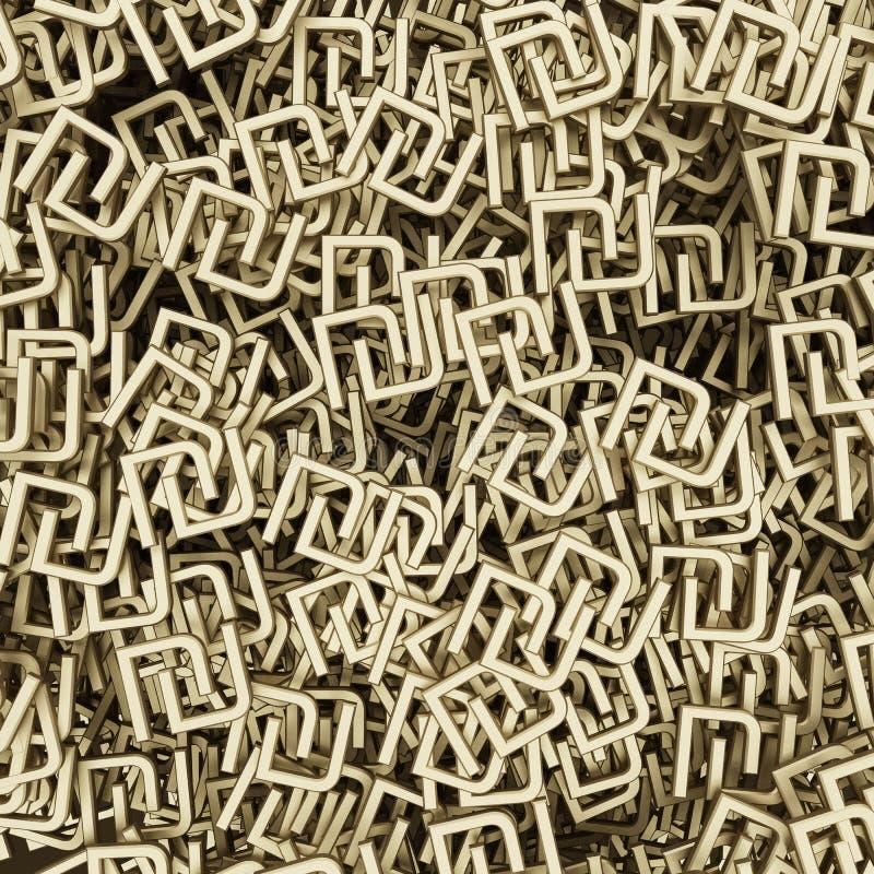 Fond des symboles du shekel indien de devise illustration libre de droits