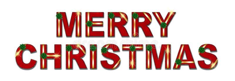 Fond des textes de cadeau de Joyeux Noël photo stock