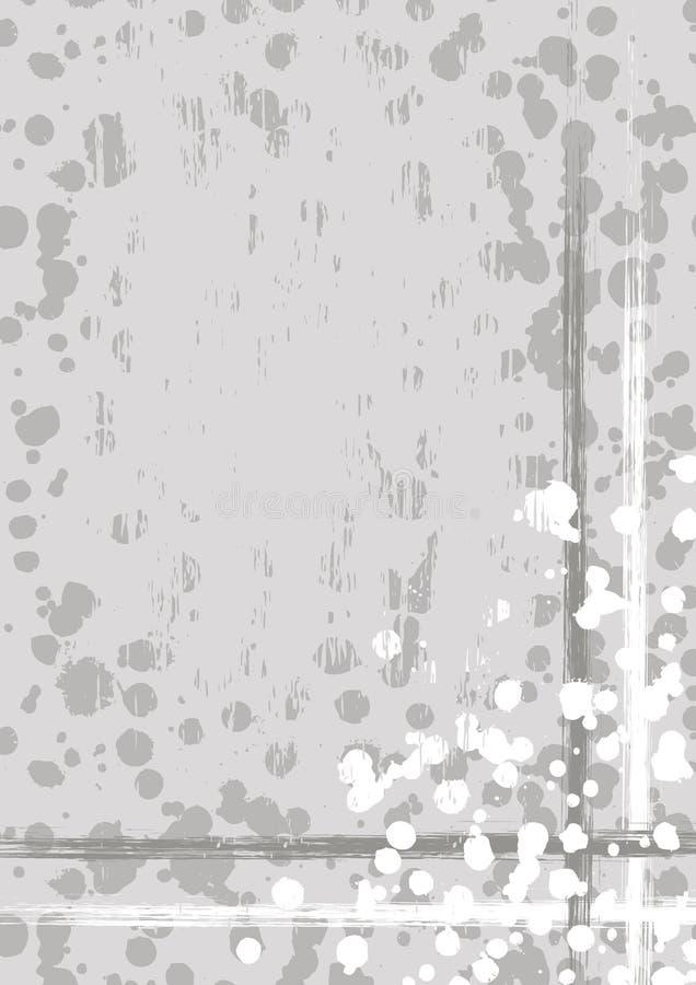 Fond dessiné par vecteur avec le cadre, frontière Calibre grunge avec l'éclaboussure, usure de jet, fissures Conception de vintag illustration de vecteur