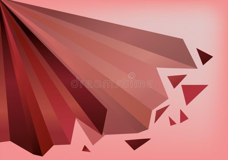 Fond destructif géométrique rouge et rose image libre de droits
