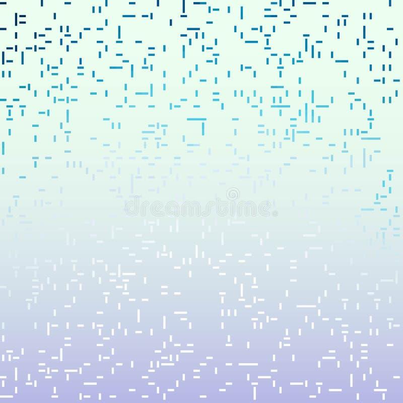 Fond diagonal abstrait bleu de modèle de mosaïque de tuile de rayure - graphique qu'on peut répéter illustration de vecteur