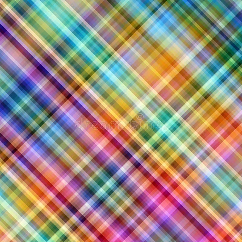 Fond diagonal de mosaïque de Pixel multicolores. illustration de vecteur