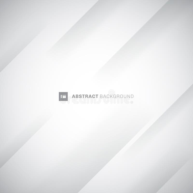 Fond diagonal moderne blanc et gris abstrait de rayures Pli de papier de pli Vous pouvez employer pour la conception de couvertur illustration libre de droits