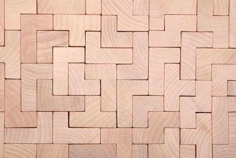 Fond différent en bois de blocs de formes photo libre de droits