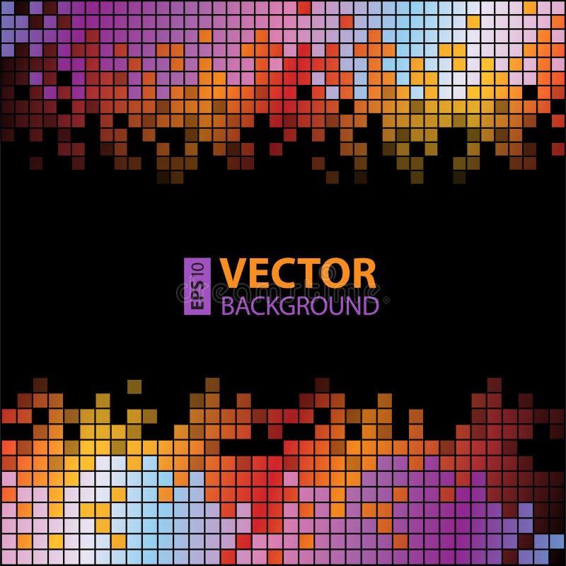 Fond digital abstrait avec les Pixel colorés illustration de vecteur