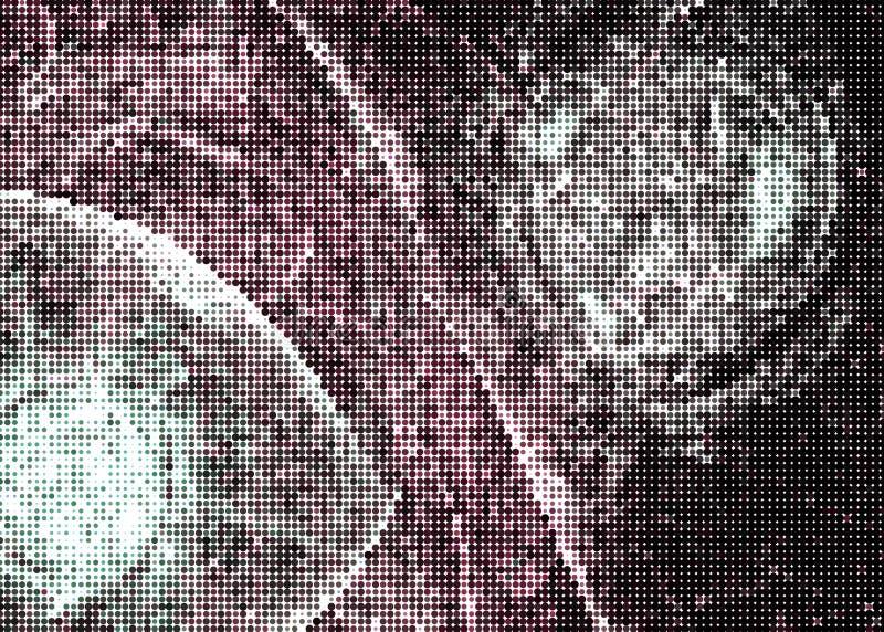 Fond digital abstrait Cercles, points Agrafe art illustration libre de droits