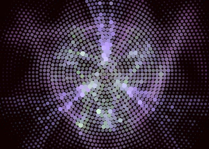 Fond digital abstrait Cercles, points Agrafe art illustration de vecteur