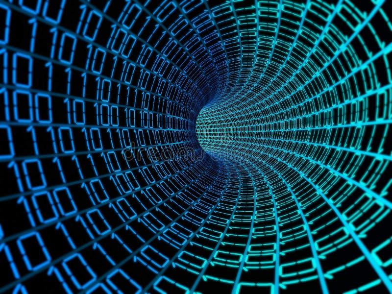 Fond digital de données de code binaire illustration libre de droits