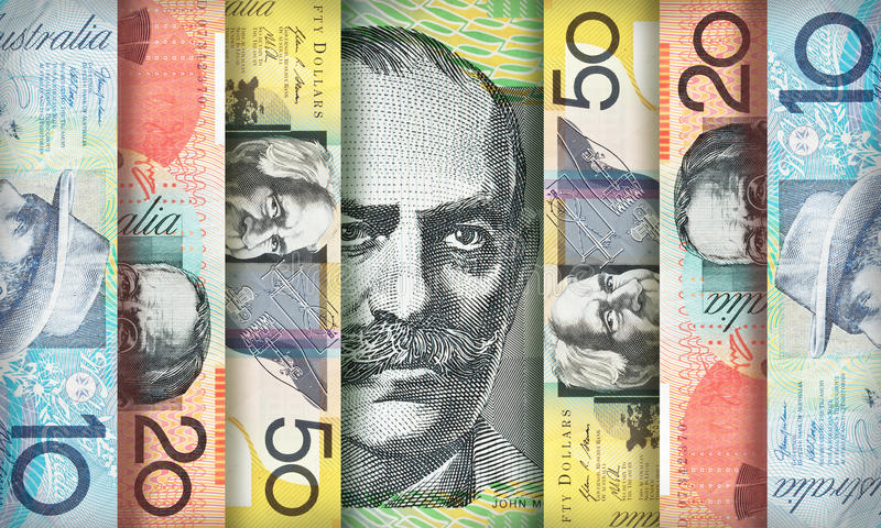 Fond du dollar australien photos stock