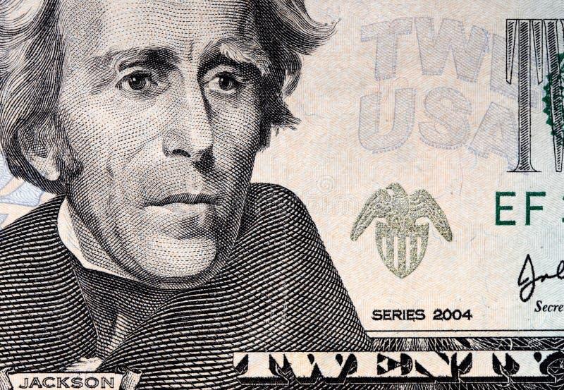 fond du dollar des 20 Etats-Unis photos stock