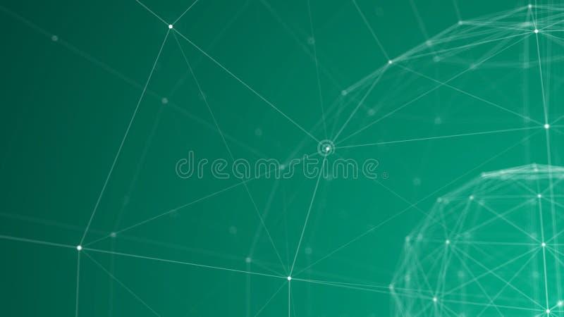 Fond du Fil-cadre 3d de Teal Plexus Sphere illustration de vecteur