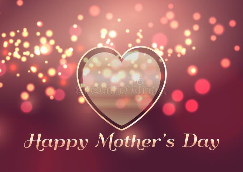 Fond du jour de mère avec la conception de coeur illustration stock
