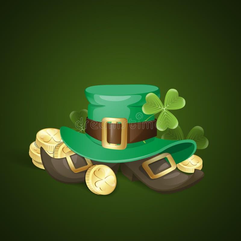 Fond du jour de St Patrick illustration libre de droits
