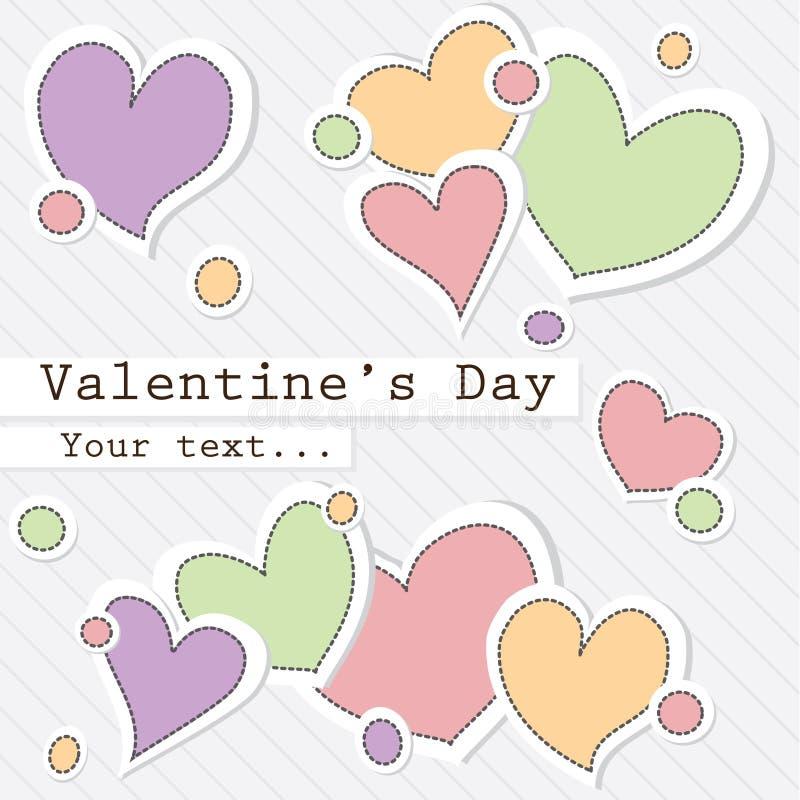 Fond du jour de Valentine illustration stock