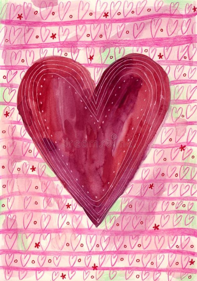 Fond du jour de Valentine illustration de vecteur