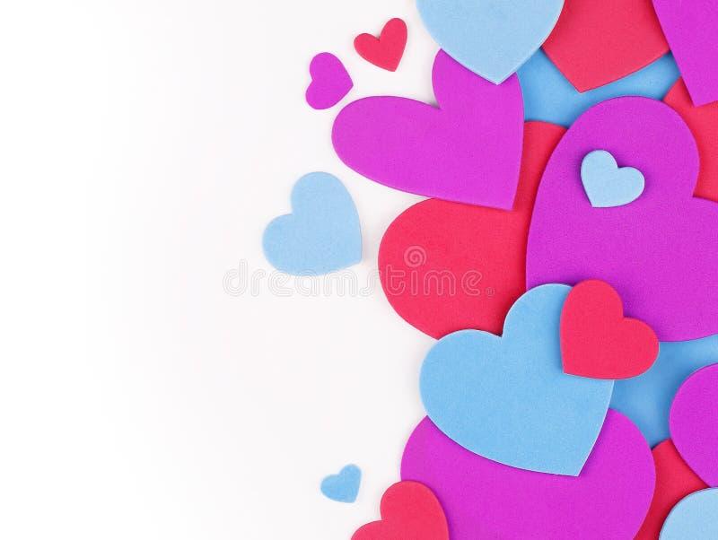 Fond du jour de Valentine Coeurs colorés photo stock