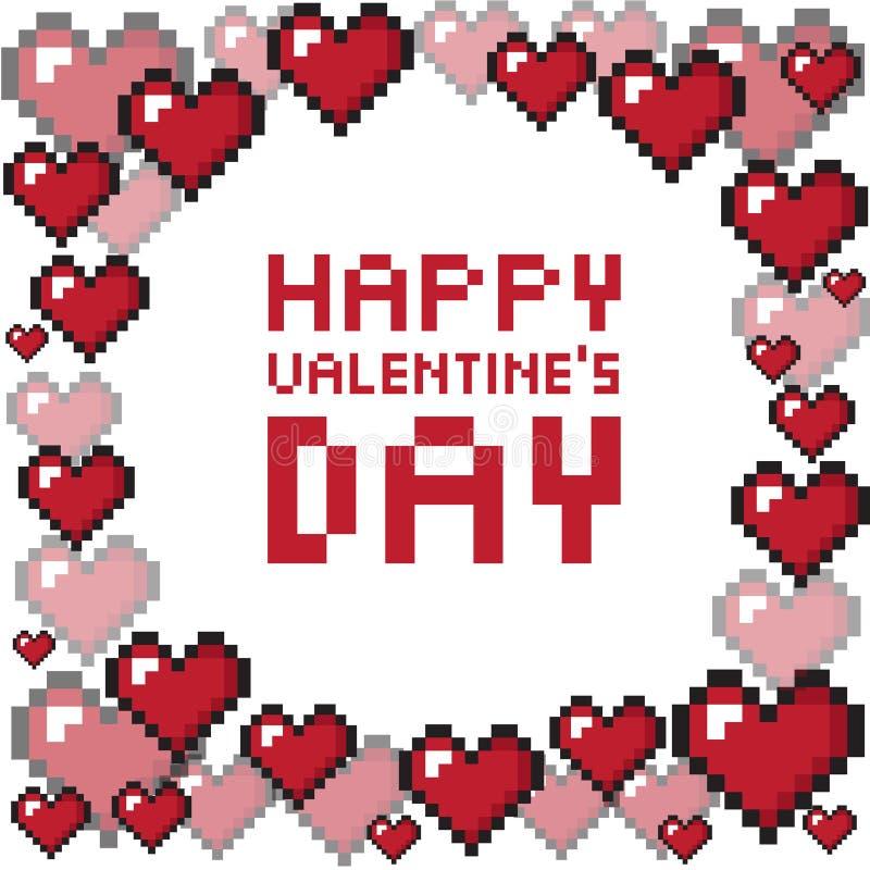 Fond du jour de valentine de pixel image libre de droits