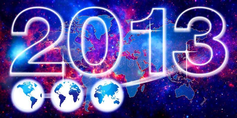 Fond du monde pour 2013 illustration stock