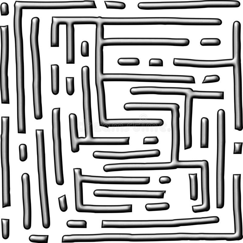 Fond du numéro quatorze de style de labyrinthe métallique illustration libre de droits