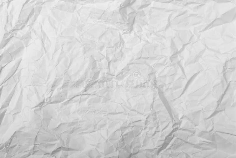 Fond du papier chiffonné blanc pour différents buts photo stock