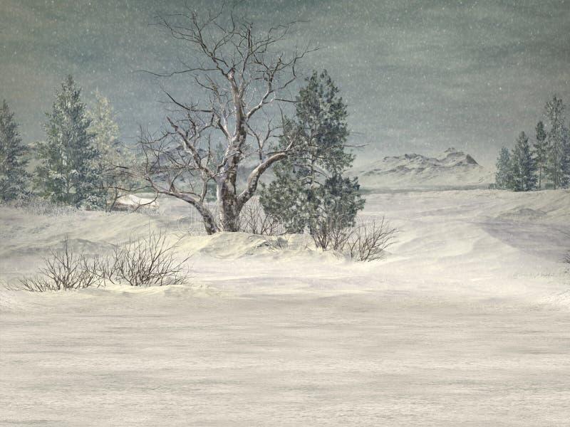 Fond du pays des merveilles de l'hiver illustration de vecteur