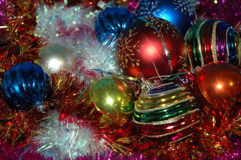 Fond du ` s de Noël et de nouvelle année Une tresse de couleur différente images stock