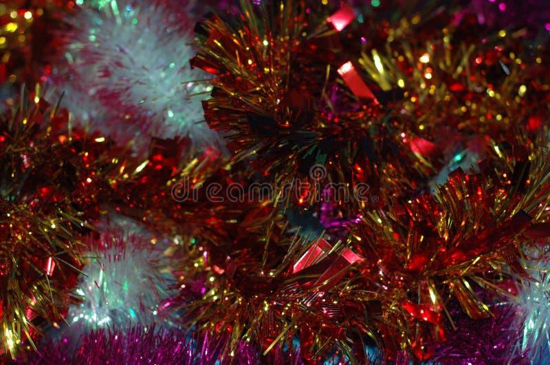 Fond du ` s de Noël ou de nouvelle année Une tresse multicolore image stock