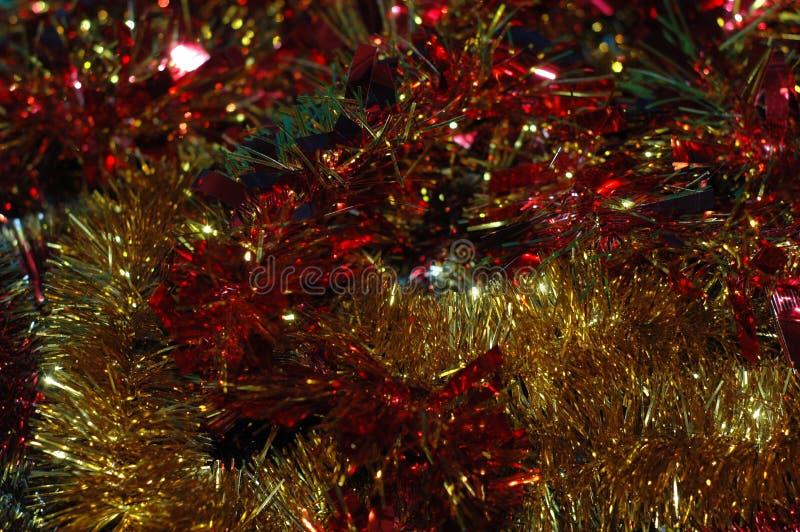 Fond du ` s de Noël ou de nouvelle année Une tresse multicolore photos stock