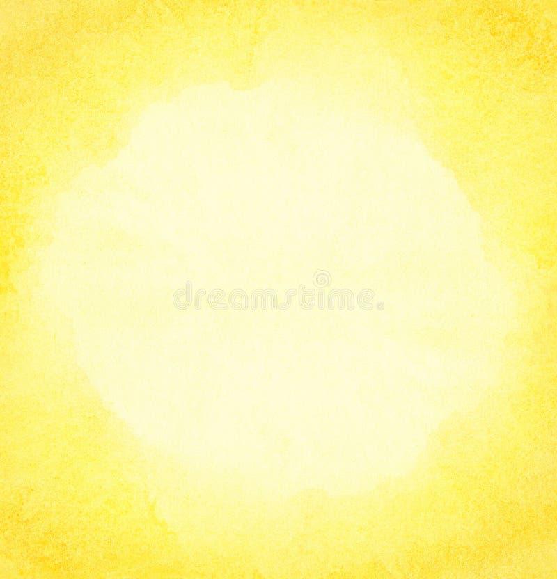 Fond du soleil d'aquarelle. image stock