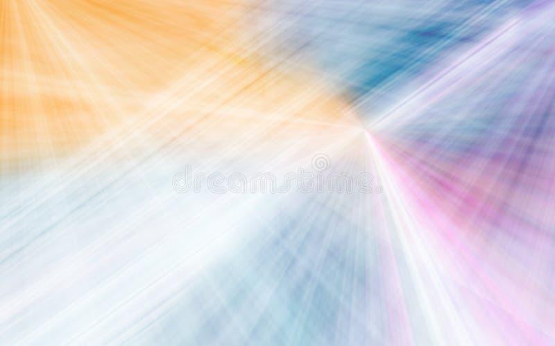 Fond dynamique abstrait moderne avec les rayons légers illustration libre de droits