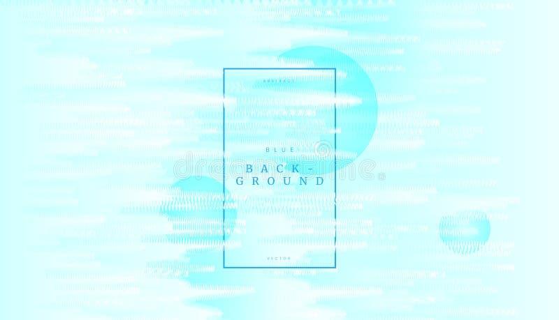 Fond dynamique de vague abstraite bleue molle avec la texture de zigzag de courbe Peut être employé pour le blanc de présentation illustration de vecteur