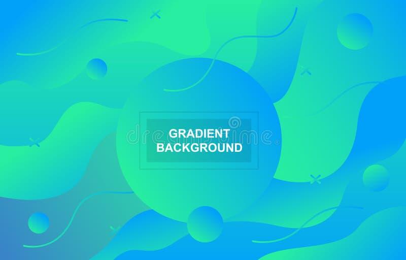 Fond dynamique géométrique liquide liquide de forme de gradient coloré illustration stock