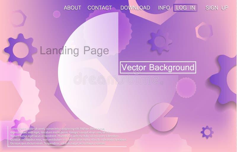 Fond dynamique liquide pour la présentation d'affaires, les pages de débarquement ou les affiches illustration stock