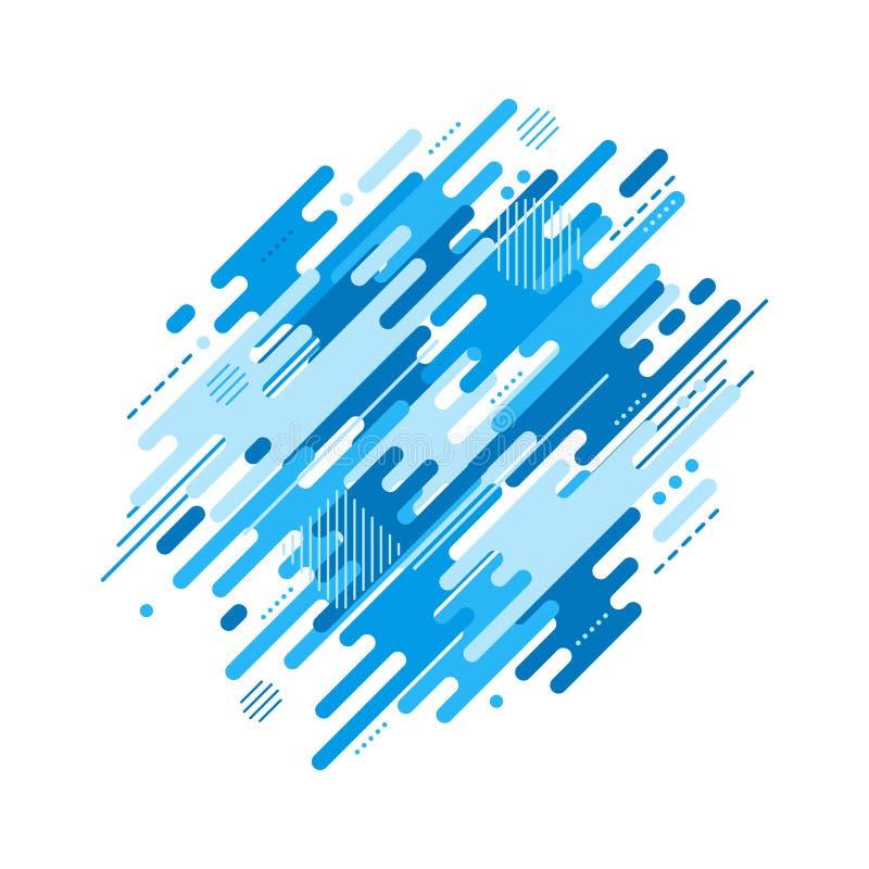 Fond dynamique plat abstrait illustration de vecteur