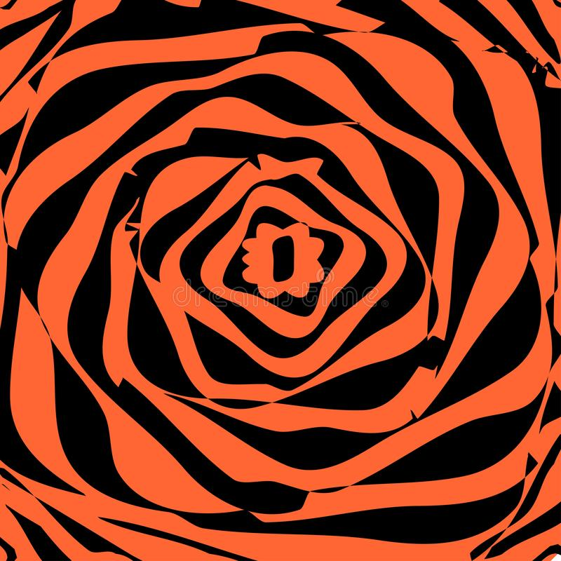 Fond dynamique tordu Illusion optique Torsion, déformation, effet de mouvement de rotation illustration de vecteur