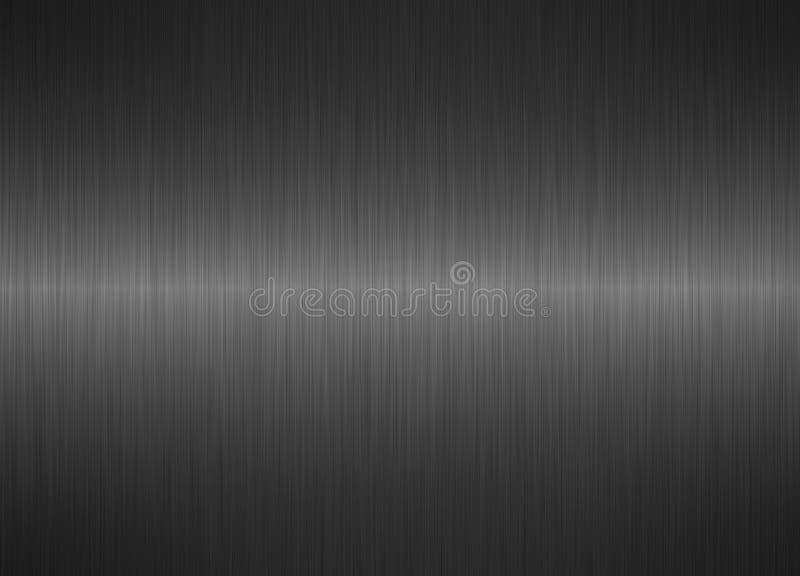Fond en acier métallique argenté balayé illustration libre de droits