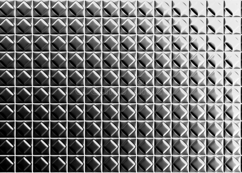 Fond en aluminium de tuile de configuration de forme de diamant illustration stock