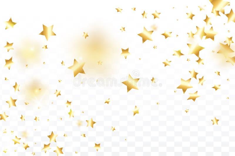 Fond en baisse de confettis d'étoile illustration de vecteur