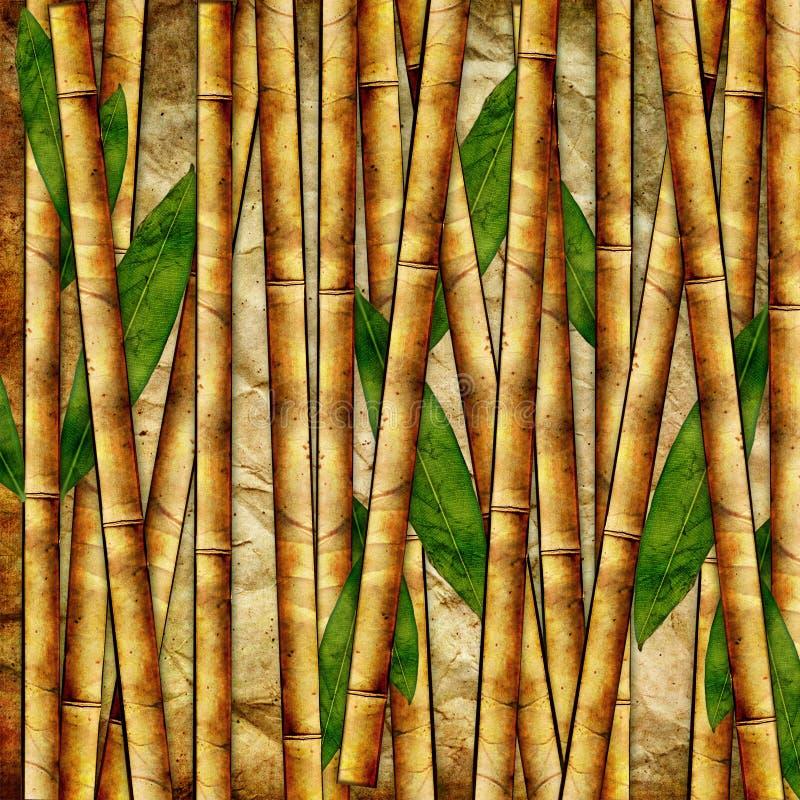 Fond en bambou illustration stock