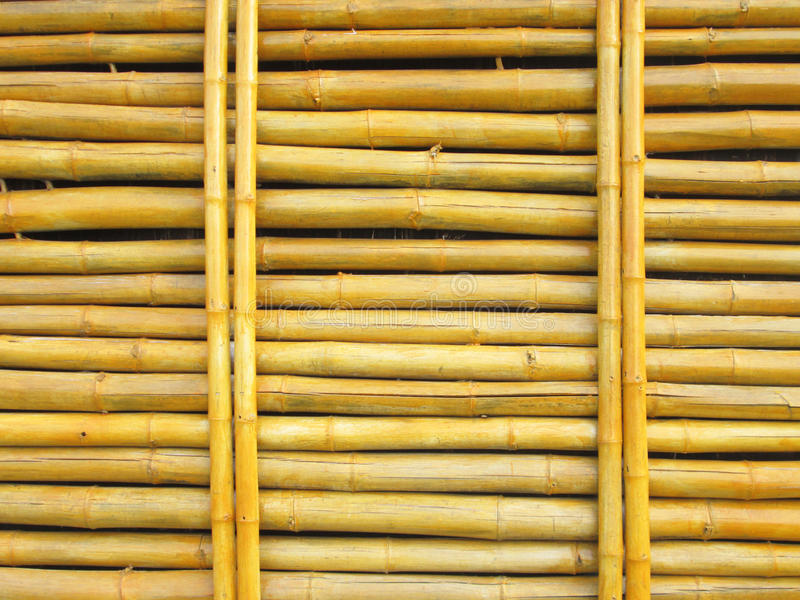 Fond en bambou de mur photos libres de droits