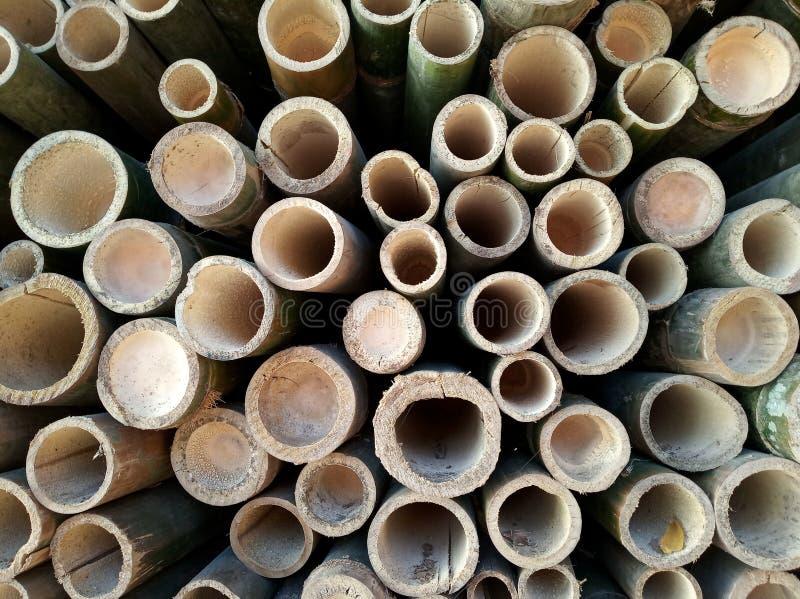 Fond en bambou de texture de trou photos libres de droits