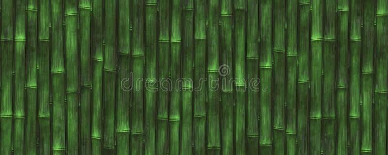 fond en bambou de vert de l'illustration 3d photo stock