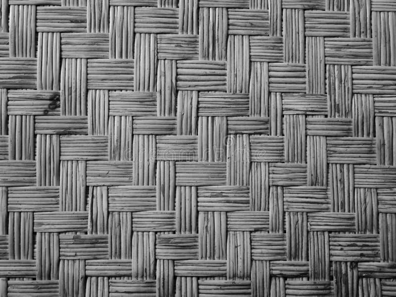 Fond en bambou naturel de tapis plat tiss? par bambou photographie stock