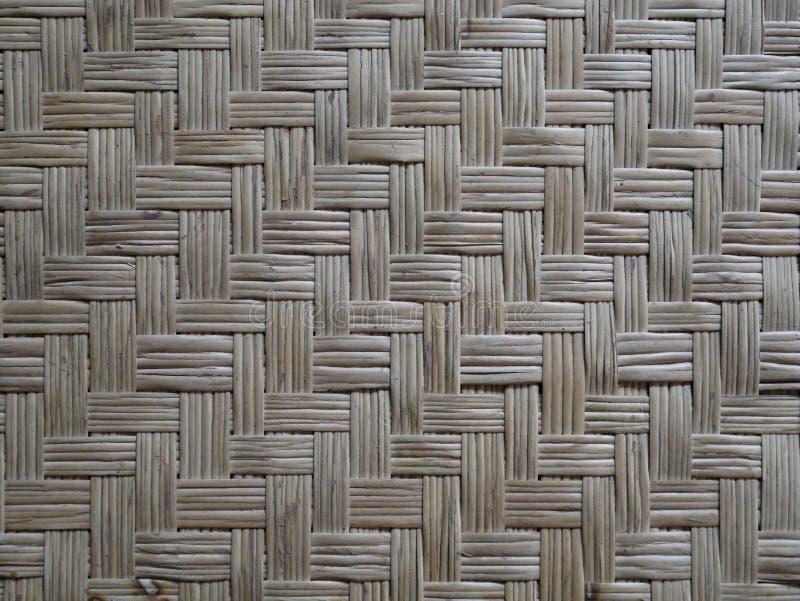 Fond en bambou naturel de tapis plat tiss? par bambou photos libres de droits