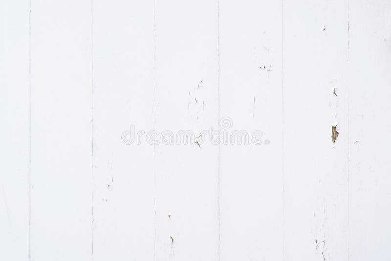 Fond en bois affligé blanc rustique de texture de planche images stock