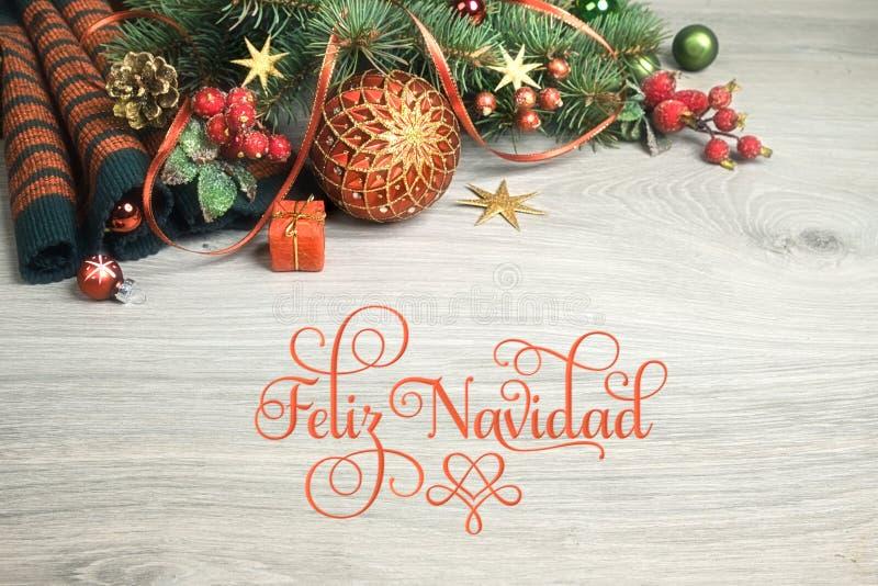Fond en bois avec des décorations de Noël photos libres de droits