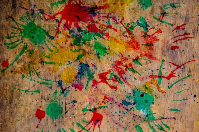 Fond en bois avec multicolore images stock