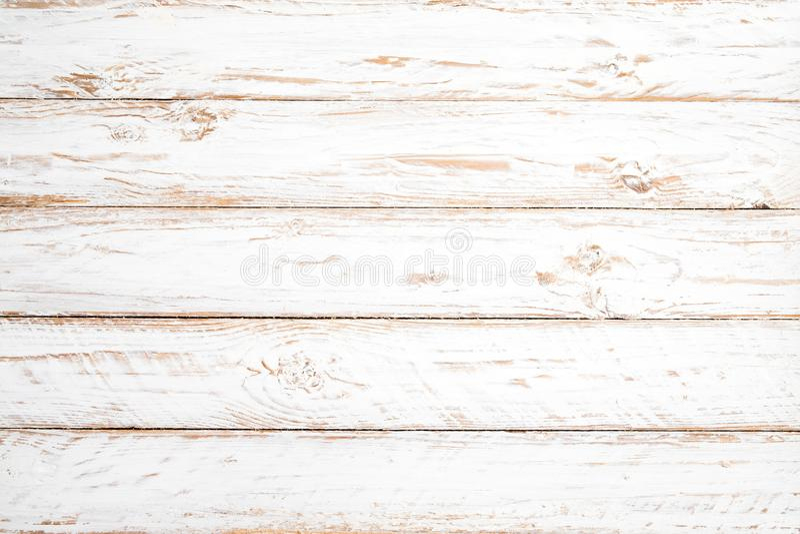 Fond en bois blanc de cru images libres de droits