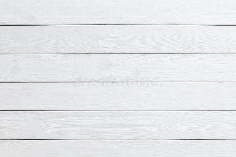 Fond en bois blanc de planches horizontal photographie stock